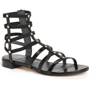 "Stuart Weitzman Black ""Caesar"" Gladiator Sandal"